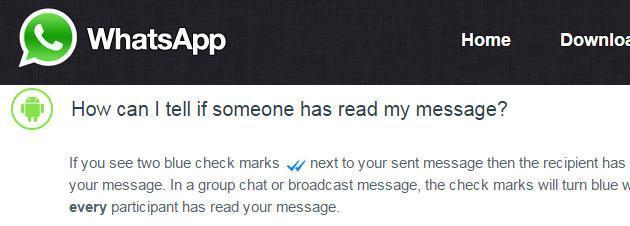 WhatsApp, la spunta blu si potra' disattivare