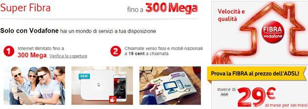 Vodafone: Fibra FTTH a 300 Mbps arriva a Bologna