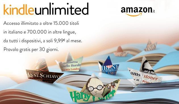 76e2887f41c95f Amazon Kindle Unlimited in Italia: Ebook senza limiti per 10 euro al mese