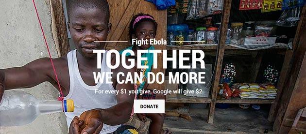 Google contro Ebola avvia raccolta fondi e dona 10 milioni