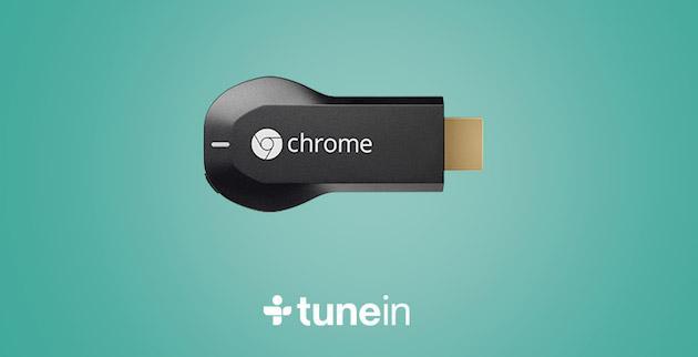 Chromecast, TuneIn porta oltre 100mila stazioni radio in TV
