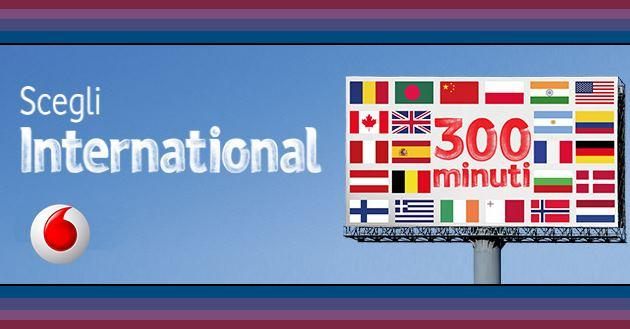 Vodafone Scegli International: 300 minuti verso l'estero a 10 euro al mese