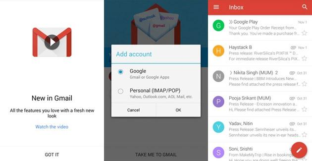 Gmail 5.0 per Android disponibile: Material Design e altre novita'