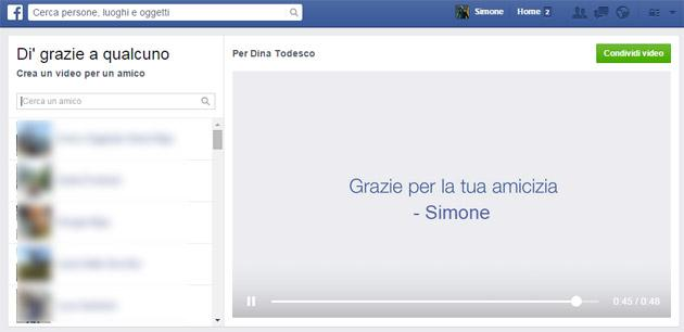 Facebook introduce Say Thanks per dire grazie agli amici