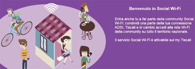 Tiscali Social Wi-Fi, la linea ADSL condivisa