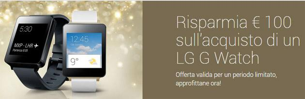 LG G Watch Scontato a 99 euro nel Play Store