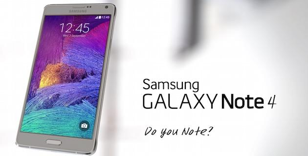 Samsung Galaxy Note 4 si mostra in video con Android Lollipop ufficiale