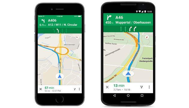 Google Maps da oggi indica la corsia