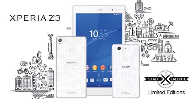 Sony presenta Z3, Z3 Compact e Z3 Tablet Compact Limited Edition