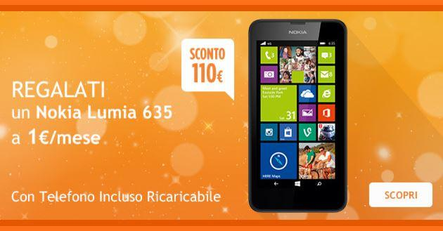 Wind offre Lumia 635 a 1 euro al mese con i piani All Inclusive