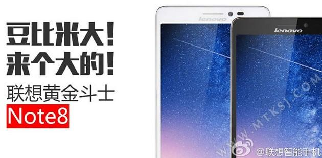 Lenovo Golden Warrior Note 8: nuovo phablet Android low cost