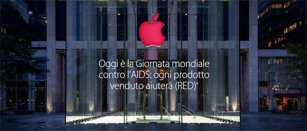 Apple Store RED per la Giornata mondiale contro Aids