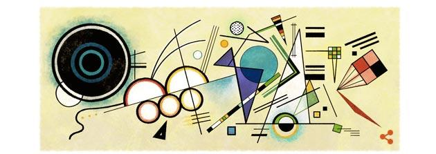 Google Doodle a Vassily Kandinsky, pittore russo