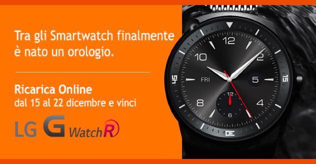 Wind: LG G Watch R in palio con la promozione Ricarica online