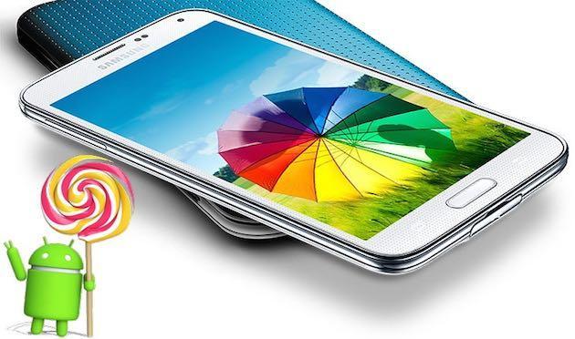Samsung Galaxy S5 si aggiorna ad Android 5.0 Lollipop anche in Italia