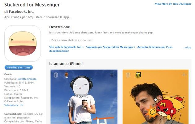 Stickered per Messenger anche su iOS