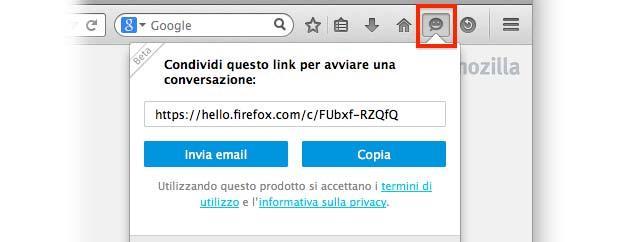 Firefox Hello in Beta pronto per essere testato