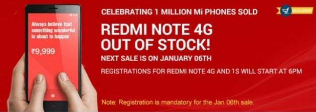 Xiaomi vende 40mila Redmi Note 4G in 6 secondi