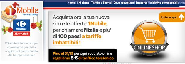 1Mobile apre lo Shop online