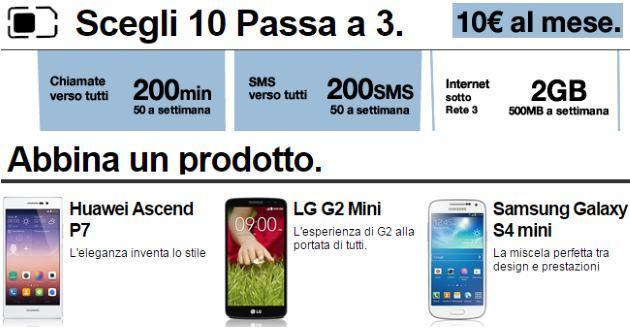 Scegli 10 Passa a 3: gli Smartphone migliori al Prezzo Migliore