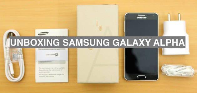 Samsung Galaxy Alpha: unboxing, primo avvio e prime impressioni