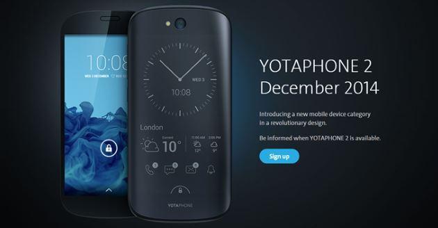 YotaPhone 2, lo smartphone con Doppio Display arriva in Europa