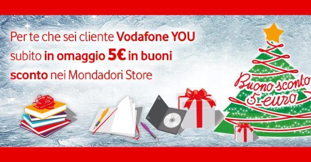 Vodafone You Dicembre, tornano gli Sconti nei Mondadori Store