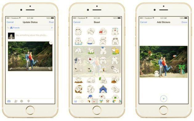 Facebook introduce gli adesivi sulle Immagini