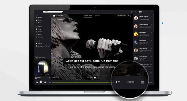 Spotify: nuova versione Desktop con MusiXmatch integrato