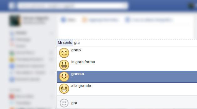 Facebook elimina lo status 'Mi Sento Grasso'