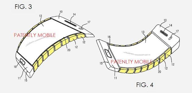 Samsung, brevetto per uno smartphone flessibile per utenti attivi