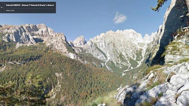 Google Street View tra cime e sentieri delle Dolomiti