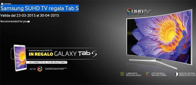 Samsung regala Tab S a chi acquista un nuovo TV SUHD
