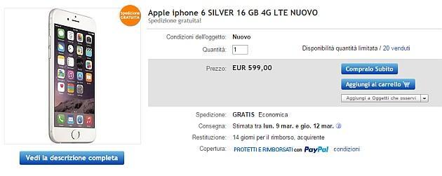 iPhone 6 e 6 Plus da 16 GB Gold, Silver e Gray a 655 euro su Amazon