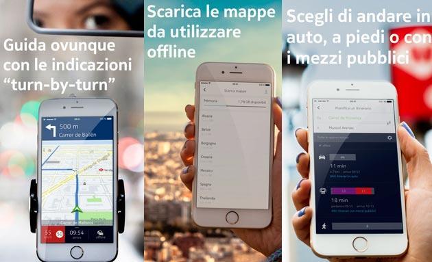 Nokia HERE Maps disponibile su AppStore per iPhone