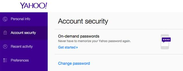 Yahoo attiva la Password On-Demand