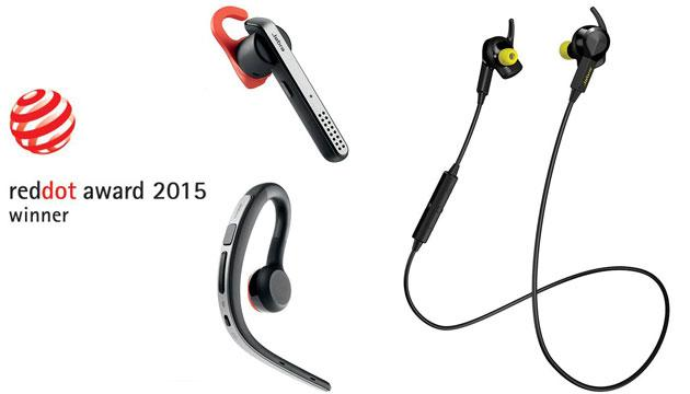 Jabra tre volte premiata ai Red Dot Design Awards 2015