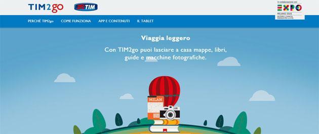 TIM2gO, servizio di tablet sharing di TIM per Expo 2015