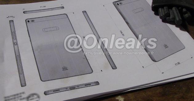 Huawei Ascend P8, diffuse le immagini dei progetti