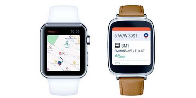 Moovit diventa compatibile con SmartWatch Android Wear e Apple
