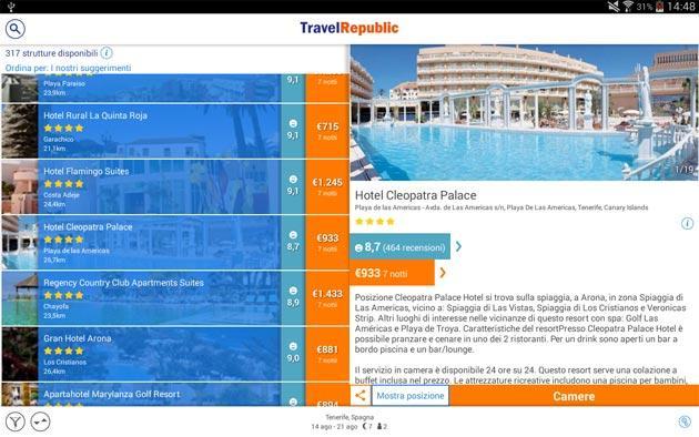 Travel Republic sbarca su Android, 20 euro di sconto per prenotare