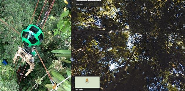 Google Street View ci porta nella Foresta Amazzonica
