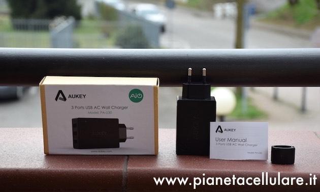 Recensione caricatore tripla USB Aukey 4,8 Ah