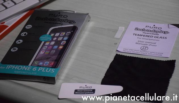 Recensione pellicola vetro Temperato iPhone 6 Plus by Puro
