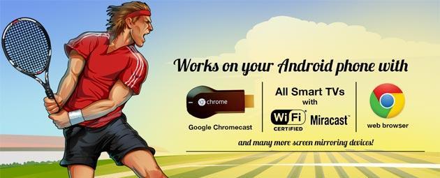 Motion Tennis Cast: giochiamo a tennis in TV con lo smartphone grazie a Chromecast