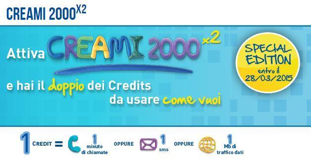 Creami 2000: PosteMobile offre il doppio dei Crediti allo stesso prezzo