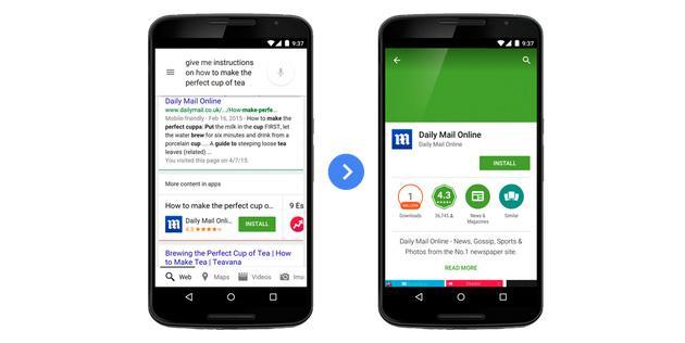 Google: Applicazioni Android sui risultati delle ricerche