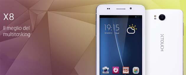 XTOUCH X8, lo smartphone Android pensato per viaggiatori
