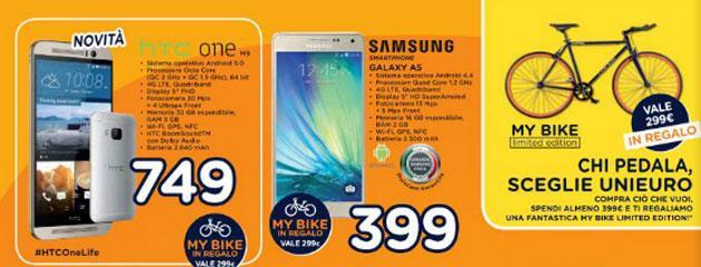 Unieuro: tanti smartphone in Promozione nel Volantino al 23 Aprile 2015
