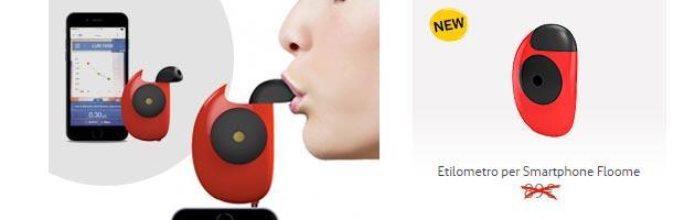 Floome: Etilometro per Smartphone con porta Jack presentato da Vodafone